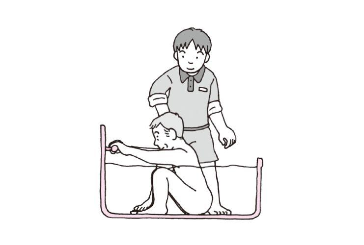 浴槽での立ち上がりと介助[1]