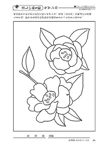 花のぬり絵特集秋冬編 高齢者介護をサポートするレクリエーション